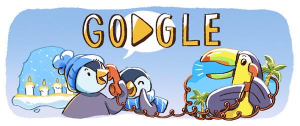 December global festivitiesとは?2017 年ホリデー シリーズ(1 日目)がGoogleロゴに!