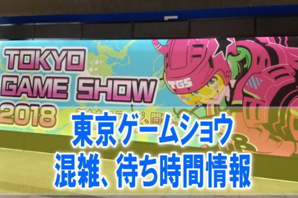 東京ゲームショウ(TGS)2019の混雑や入場、会場内の行列、待ち時間