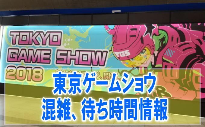 東京ゲームショウ(TGS)の混雑や入場、会場内の行列、待ち時間
