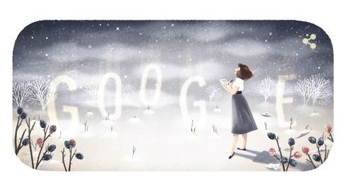 シルヴィア・プラス 生誕87周年を記念してGoogleロゴが変更