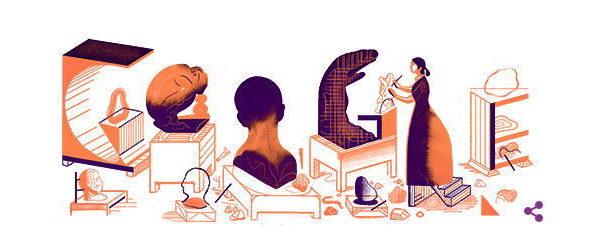 カミーユ・クローデル 生誕155周年を記念してGoogleロゴが変更