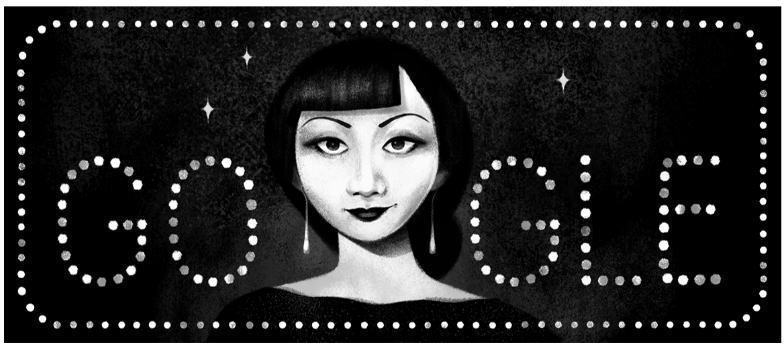 アンナ・メイ・ウォンを称えてGoogleロゴが変更(1/22)