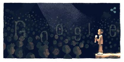 ンコシ・ジョンソンを称えてGoogleロゴが変更(2/4)